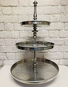 Cake Stand Silver - 3 Tier Large