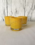 Votive Round Yellow  + Candle