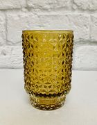 Candle Holder Diamond Amber