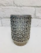 Candle Holder Diamond Smoke