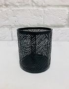 Candle Holder Metal Black