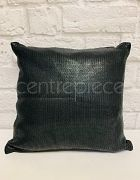 Cushion - Black Knitted