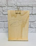 Menu Stand Wooden Rectangle - Large (A4 Size)