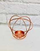 Candle Holder Sphere Rose Gold