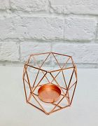 Candle Holder Geometric Rose Gold Small