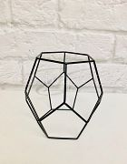 Candle Holder Geometric Black