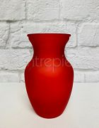 Vase Frosted Red