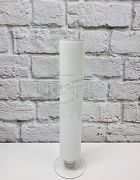 Milk Glass Footed Cylinder (White) 47cm