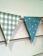 Bunting Cottage Theme Triangle