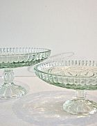Cake Stand Cut Glass Medium