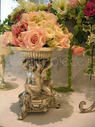 Italian candlestick with roses