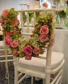 Bridal chair flowers