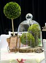A themed moss ball  centrepiece from the English Country Garden Room